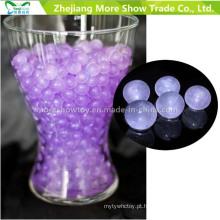 Roxo Glitter Cristal Soil Água Beads Centrais Decorações De Casamento