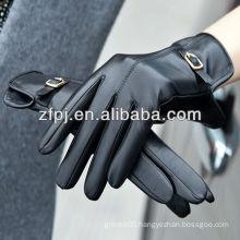 Women wearing leather belt pattern gloves for importer