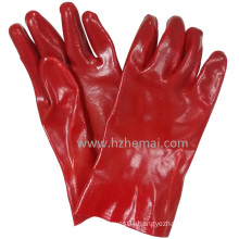 Full Dipped Oil Proof Gloves Red PVC Gloves Safety Work Glove