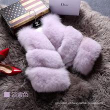2016 Moda Lady Vest Mulheres Outwear Fur Waistcoat Inverno Primavera