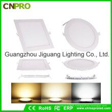 Super Thin Round/Square LED Panel Light 6W with Ce RoHS Approved