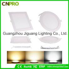 Luz de painel fina redonda 6W do diodo emissor de luz do quadrado / redondo com Ce RoHS aprovado