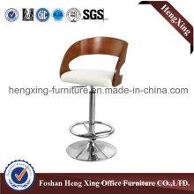 Wooden Back Leather Swivel Bar Stool Bar Chair (HX-BC001)