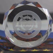 Peso de papel de cristal de alta qualidade por atacado para presentes relativos à promoção