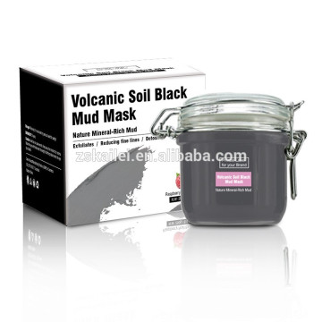 GMPC factory OEM Black Mud Collagen Facial Mask