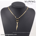 2016 Wholesale 18k gold plated jewellery female pendant jewellery necklace