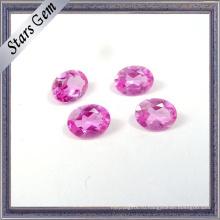 Высокое качество #2 розовый цвет синтетический Рубин для ювелирных изделий