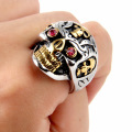 Gaya Retro Sweatproof Titanium Steel Skull Ring