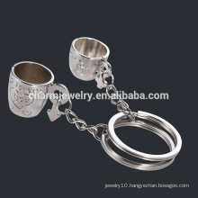 Couple cups Cheap Key ring Lovers Cup couple key chain cups keychain ring YSK012