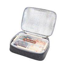 Insulated bowl lunch bag square handle bag high quanlity  for promotional polyester easy clean aluminum cooler bag