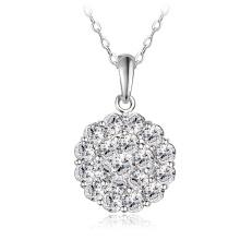 Роскошные женские цветок Дискотечный шар круглый Кулон&ожерелье (CNL0210-Б)