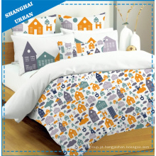 4 PCS Kids Cotton Duvet Cover (conjunto)