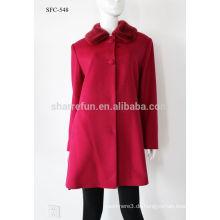 Luxus klassischen Stil Frauen Cashmere Mantel 90% Wolle warmen Winter langen Mantel Großhandel