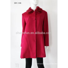 Luxury classic style women Cashmere coat 90% wool warm winter long coat wholesale