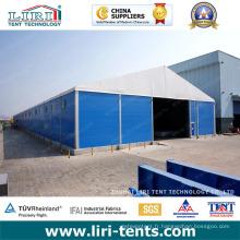 Structures d'entrepôt temporaires de 50 x 170 m pour l'entreposage et l'atelier