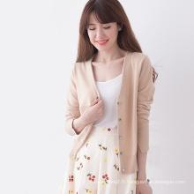 chandail de cardigan blanc multicolore en tricot adulte avec prix usine