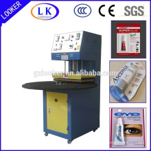 Machine de cachetage de carte de boursouflure en plastique