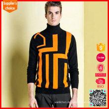 2017 Heiße verkaufende lange Hülsen Mens Pullover Intarsia Stricken Tutorial
