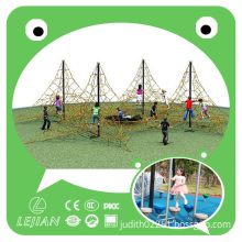 2015 New Children Adventure Outdoor Playground Climbing Rope Equipment for Park with Certificate