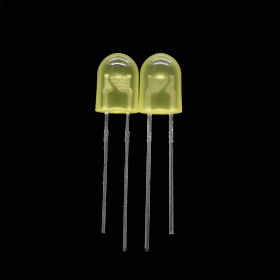 RETTANGOLARE LED ROSSO 5mm x 2mm confezione da 10