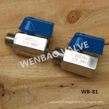 "3/8"" Stainless Steel SUS304 Mini Ball Valve M/F"