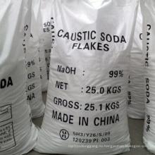 99% Хлопья каустической соды Жемчуг Твердый для промышленности Сорт