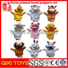 Fantoches de mão promoção animais de fazenda mão fantoches para venda