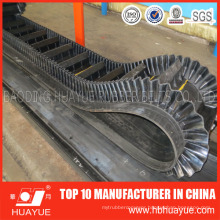 90 Degree Corrugated Sidewall Skirt Conveyor Belt