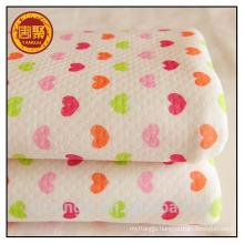 100% cotton knitting fabric warm cloth