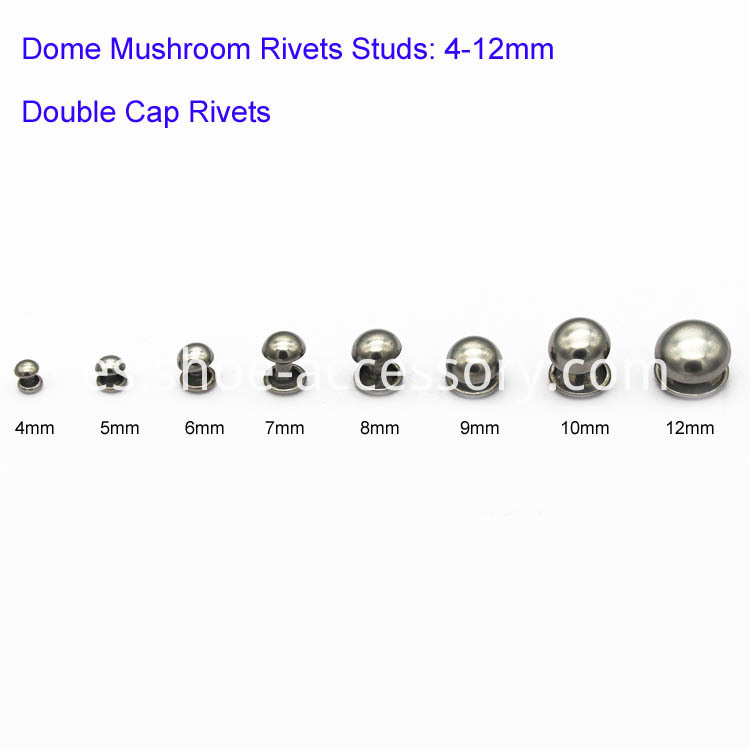 Double Cap Rivets