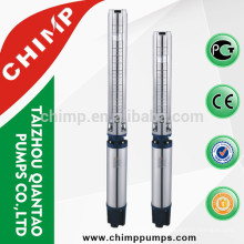CHIMP 6SP 10.0HP stainless steel three phase centrifual deep-well borehole water pump