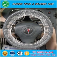 PE plastic disposable car maintenance 20mic car steering wheel cover