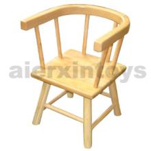 Silla de madera para niños en madera de goma sólida (81440 81441)