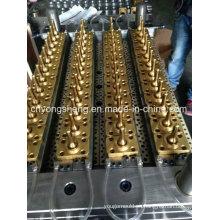 Válvula de aguja de cobre de 48 cavidades Molde de preformas de mascotas