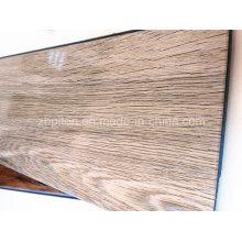 Plancher de vinyle de PVC de 6.5mm glacé élevé