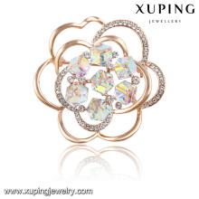 00030 Cristaux élégants de fleur de mode de la broche de bijoux de Swarovski en plaqué or