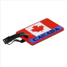 Etiqueta de malas em PVC macio com logotipo do Canadá