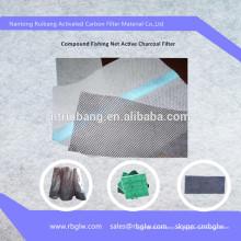 filtro de aire de aire acondicionado malla de medios de carbón activado