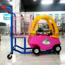 Carrinho de compras de supermercado de crianças com carro de brinquedo