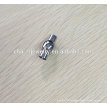 BXG007 Stainless Steel Magnetic Cord End Clasp - Elegant Round Design - Fits 2/3/4/5/67/8mm Cord DIY jewelry Finding