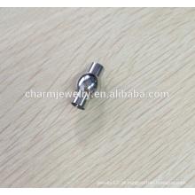 BXG007 Fivela de fim de cabo magnético em aço inoxidável - design redondo elegante - cabe 2/3/4/5/67/8 milímetros jóias DIY cabo Encontrar