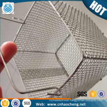 Customized shape 304 stainless steel wire mesh basket for high pressure washer