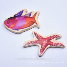advertising promotional souvenir wooden fish shape fridge magnet