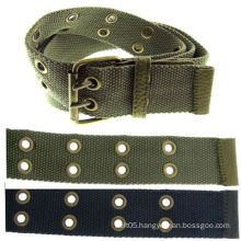 Fashion Canvas belts in bulk With Metal Eyelets With Double Metal Eyelets