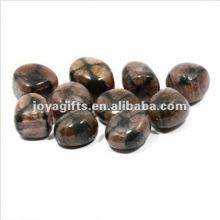 High Polished Gemstone natural pebble cobble stone mat carpet