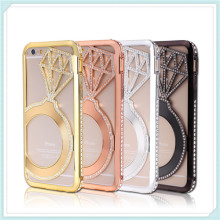 Bling Diamond and Metal Cell Phone Case for iPhone6