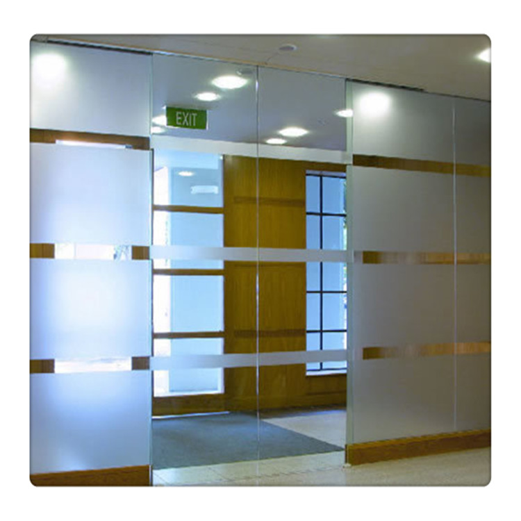12mm Thickness Clear Frosted Tempered Glass