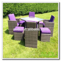 Audu Miami Purple Outdoor Garden Rattan Dining Set