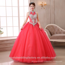 2017 New Custom Made Vestidos Bridal Puffy Colored ball gown Wedding Dresses MW2271