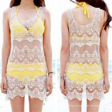 Vestido atractivo de la playa del corchete del cordón del diseño coreano de la manera (50163)